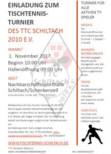 TT-Turnier 01.11.2017